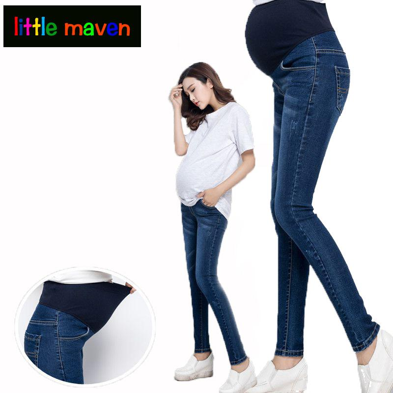 91278b1a75ce84 2019 Clothes For Pregnant Women 100% Cotton Maternity Jeans Pregnancy Belly  Elastic Thin Trousers Denim Pants For Pregnancy Clothes From Xunqian, ...
