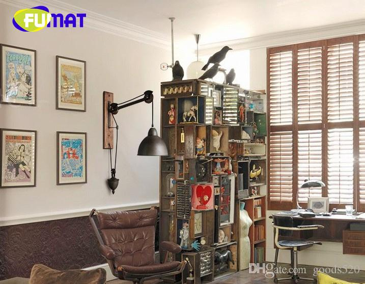 FUMAT American Vintage Iron Cover Iron Pulley Lamps French Loft Style Dining Room / Bar / Cafe Wall Lamp