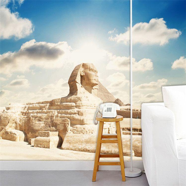 Custom 3D Photo Wallpaper Classic Egyptian Sphinx Large Mural Living Room Bedroom Office TV Backdrop Wallpaper Home Decoration