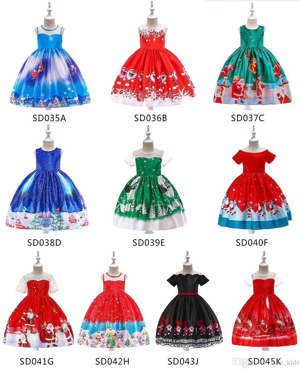 366219107 Compre 10 Estilos Nueva Navidad Año Nuevo Vestidos Para Niñas Ropa De Niños Faldas  Para Niños Vestido Para Niños Vestidos De Princesa A $23.12 Del Love_kids  ...