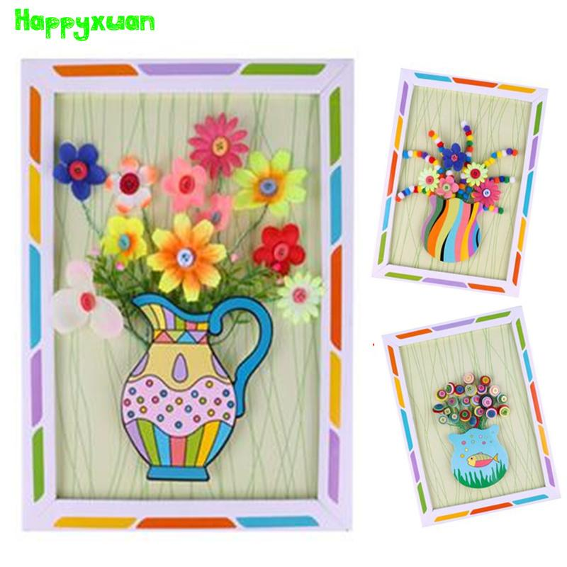 2019 Happyxuan 2018 Hot Diy Button Flower Bouquets With Paper Vase
