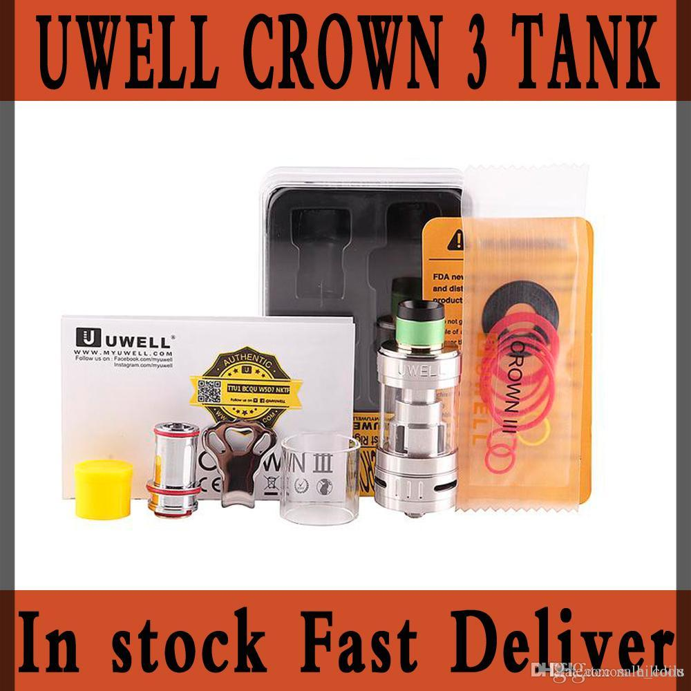 Original Uwell Crown 3 III Atomizer 5ml Top Filloing Airflow Control Sub  ohm Tank For 510 thread Mod IN STOCK