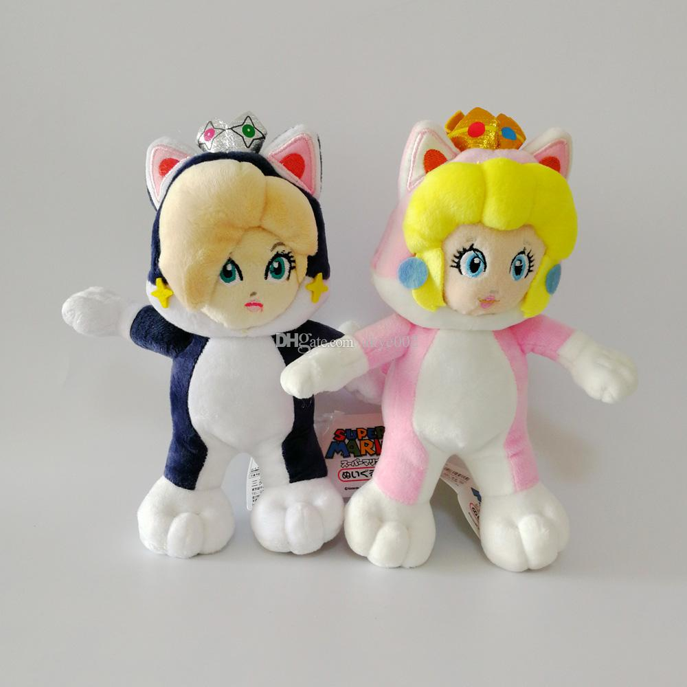 """Hot Sale 8"""" 20cm Daisy Rosalina Princess Cat Super Mario Bros Plush Stuffed Doll Toy For Kids Best Holiday Gifts"""