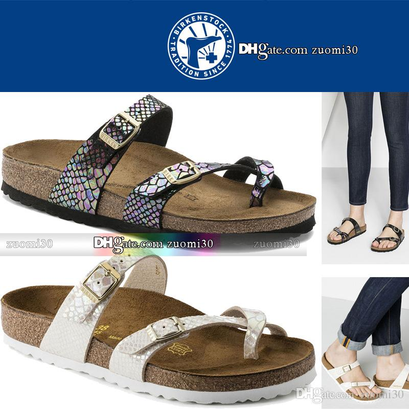 5269bfe6eebd Original Birkenstock Sandals Shoes Men Women Home Slippers For Women  Platform Buckle Leather Flip Flops Fashion Beach Sandals Cork Slippers  Sandals Shoes ...