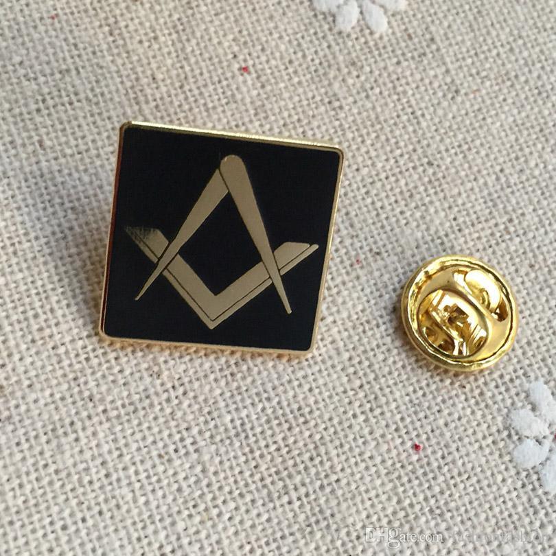 50pcs souvenir lodge freemasonry square brooches and pins custom masonic  free masons lapel pin metal badge craft