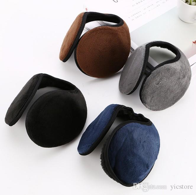 4 Colors Earmuffs Winter Warm Plush Cotton Blending Ear Muffs Men Women Warm Earmuffs Cycling Running Walking Accessories