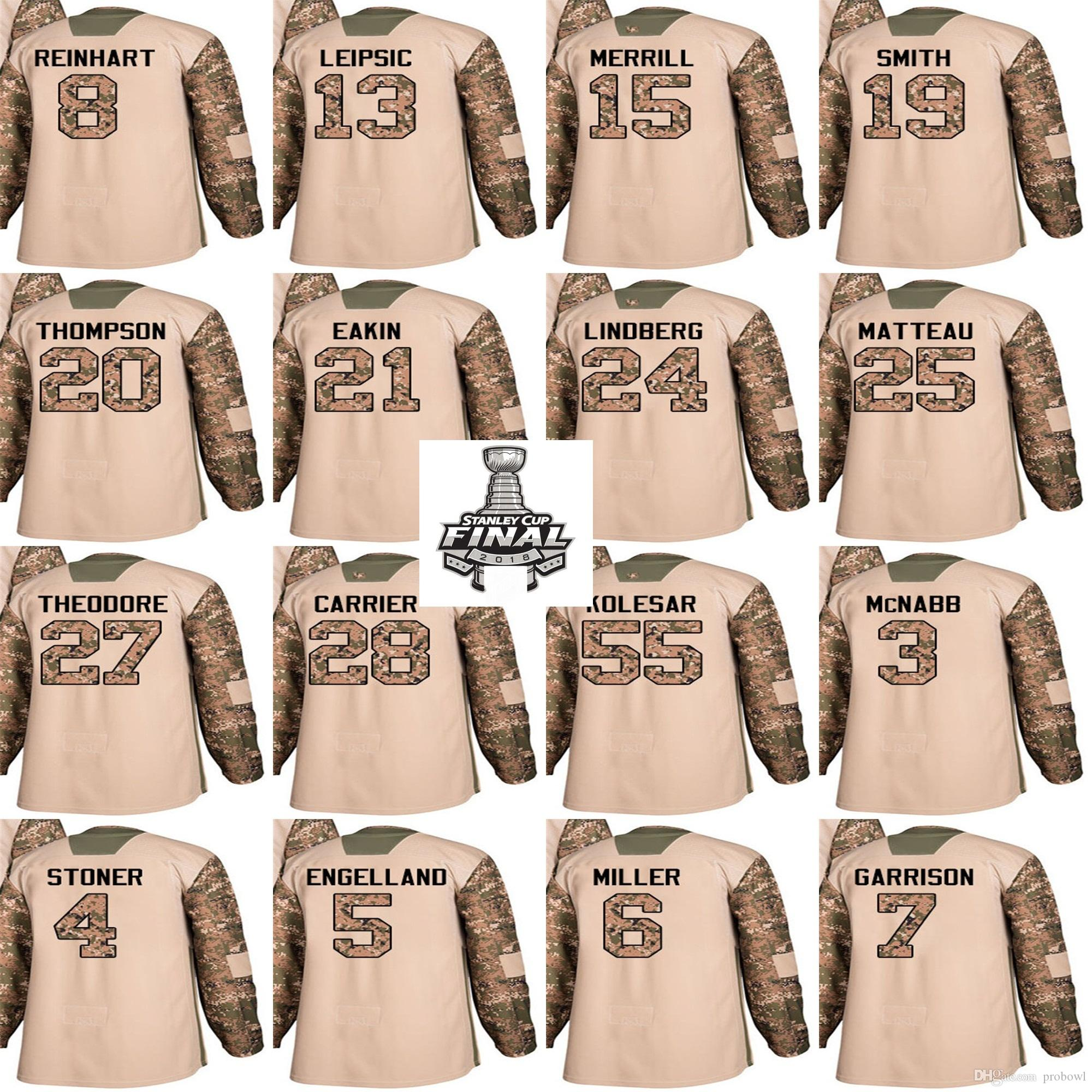 best loved d5ceb 8c1f1 2018 Finals Patch Vegas Golden 2017 Veterans Day Hockey Jersey Knights Camo  James Neal Tomas William Karlsson Pulkkinen Marc-Andre Fleury