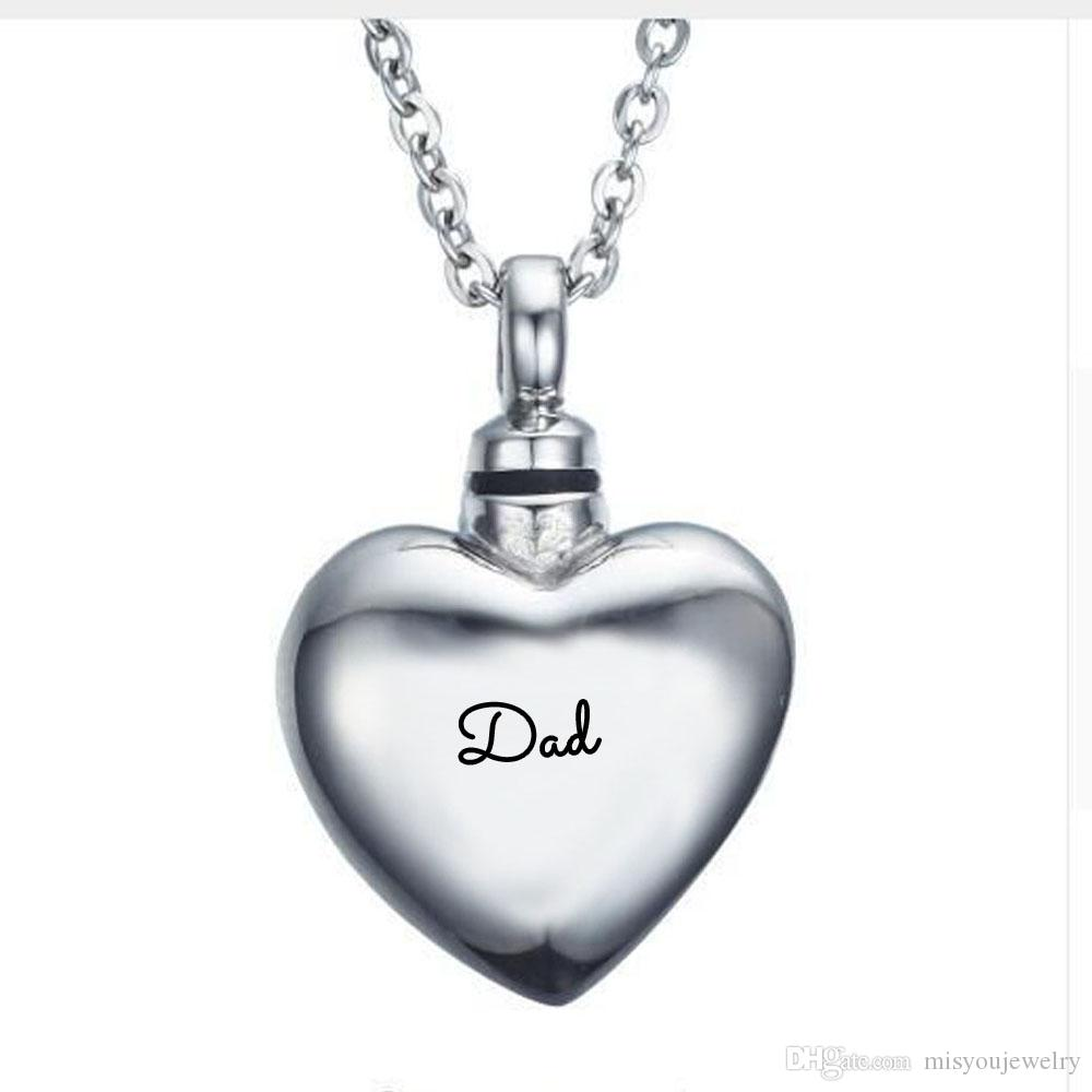 Fashion Jewelry Pendant Cremation Jewelry Urn Necklace for Ashes forever in my heart Keepsake heart Memorial Pendant