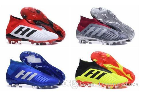 0f78bcac7 2019 With Bag Predator 18+ 18.1 FG Soccer Cleats Chaussures De Football  Boots Men High Top Soccer Shoes Predator 18 Cheap New Hot From  Lzssprotsshoes