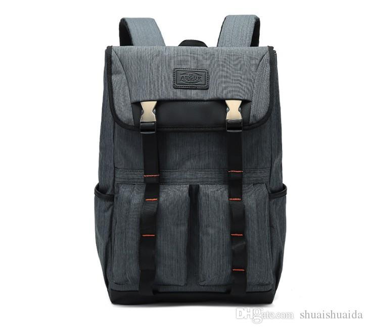 cf8b68cae2 2018 Computer Shoulder Bag Outdoor Sports Travel Backpack Schoolbag  Knapsack Canvas Pure Color Men And Women School Bags Handbag 16 Inch Best  Messenger Bags ...