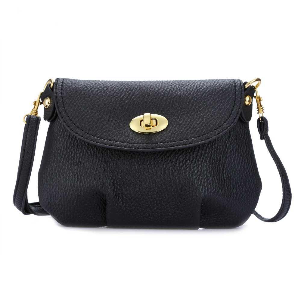 1ee8087cd867 2018 Casual Women Soft PU Leather Handbag Female Twist Lock ...