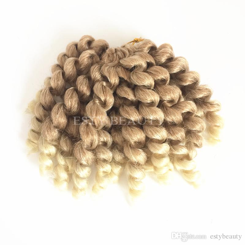 Cabelo da Trança Sintética Em Massa 2X Jumpy wand onda Jamaican Bounce Twist Tranças de Crochê Sintético Extensões de Cabelo