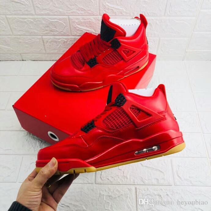 timeless design e7a5e 01c6a DS 4s SINGLES DAY NRG Scarpe da pallacanestro da uomo Tattoo ROSSO GUM  BOTTOM Sneaker da donna di alta qualità 4 scarpe da ginnastica basse con ...
