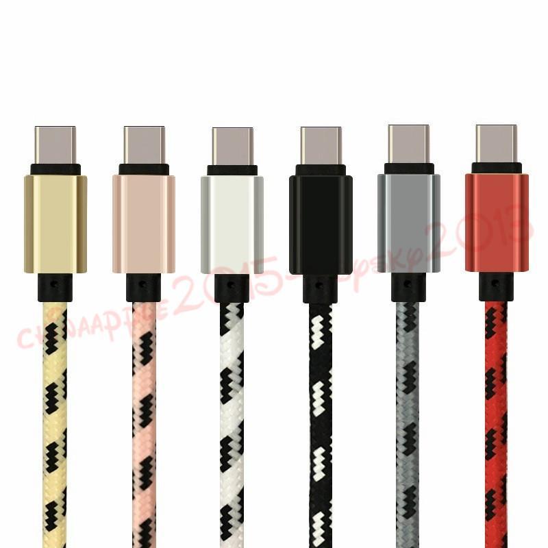 سرعة سرعة السرعة C Micro USB كابل 1 متر 2 متر 3 متر النسيج مضفر الألومنيوم الكابلات المعدنية لسامسونج S6 S7 S8 S9 ملاحظة 8 S10 S11 S11 HTC Android الهاتف