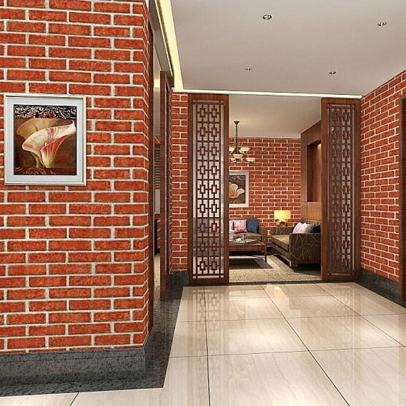 Beibehang 3d Chinese Antique Brick Wallpaper Pattern White Hotel Restaurant Gray Bricks Desktop Widescreen