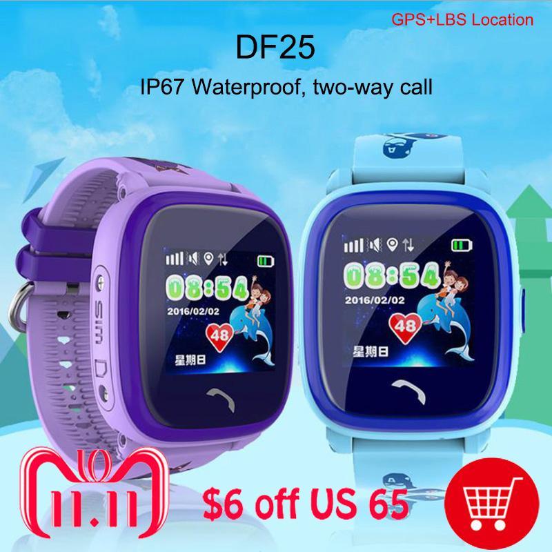 Test Smartwatches Wasserdichte Baby Smart Watch Df25 Gps Uhr Telefon