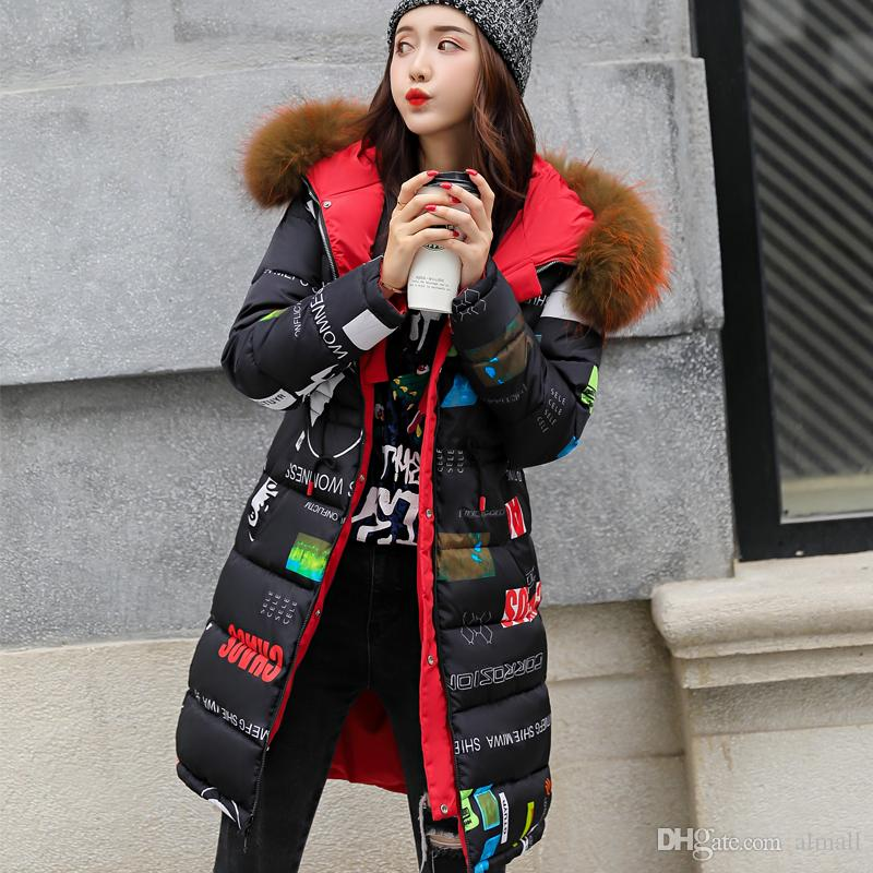9b6b92e5695 Both Size Can Wear Thicken Warm Long Jacket Female Plus Size M-XXXL  Outerwear Big Fur Collar Hood Parka Ladies Chaqueta Feminino Online with   87.43 Piece on ...
