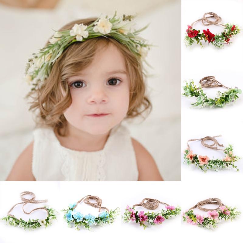 cad194d945d Newborn Baby Girls Toddler Flower Headbands Summer Style Kids Headwear Hair  Band Accessories For Photography Props Birthday Gift Blue Hair Accessories  Girls ...