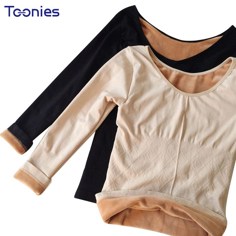 67b87e5930c6f3 Wholesale Women Winter Underwear Velvet T Shirt Women Thick Ladies Thermal  Underwear T Shirt Female Warm Underclothes Plus Size Tees Tops T Shirt  Design ...