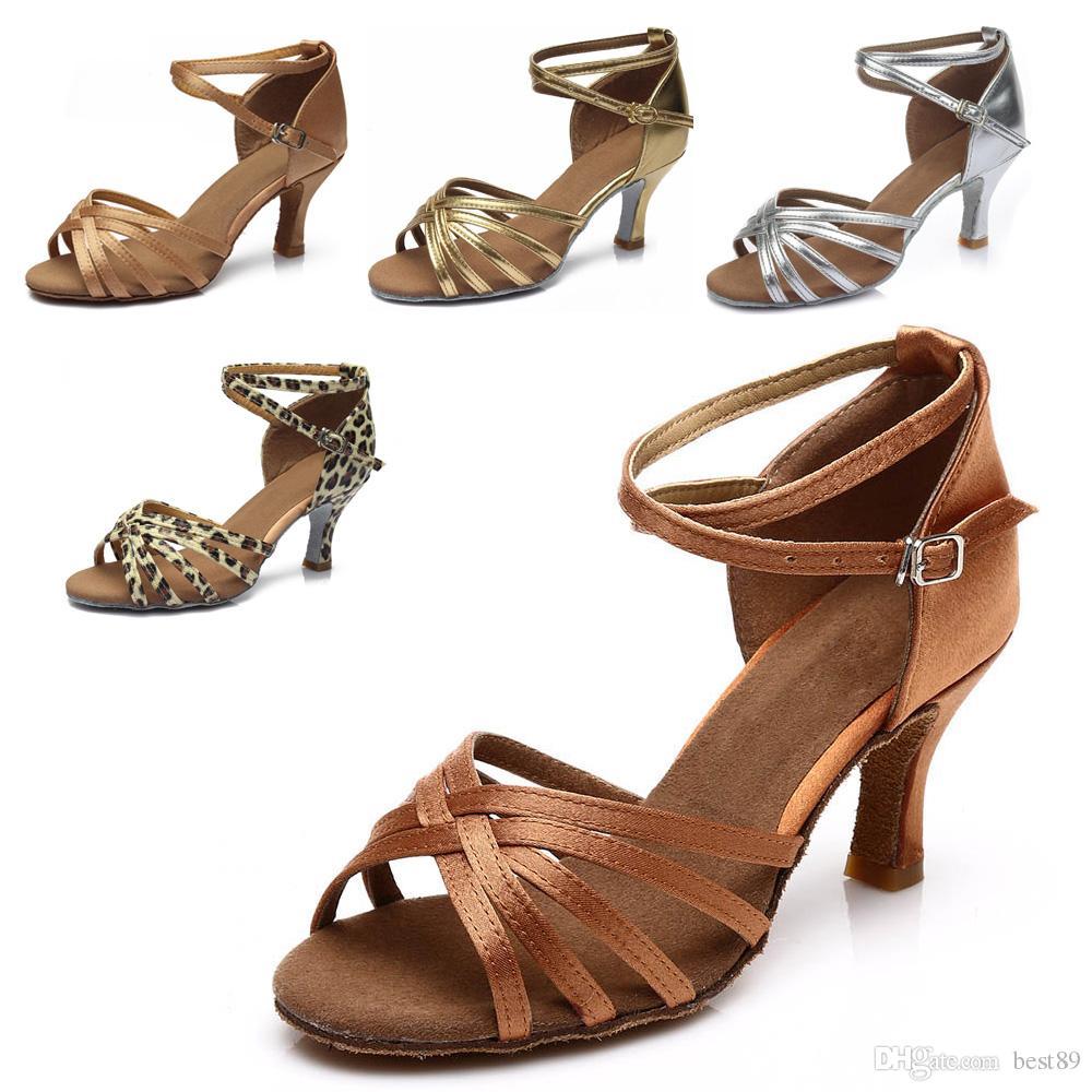 57dea032 Compre Zapatos De Baile De Tango Latino Para Mujer Salón De Baile Interior  Zapatos De Marca Zapatos De Tacón Alto 7 Cm 802A A $13.08 Del Best89 |  DHgate.Com