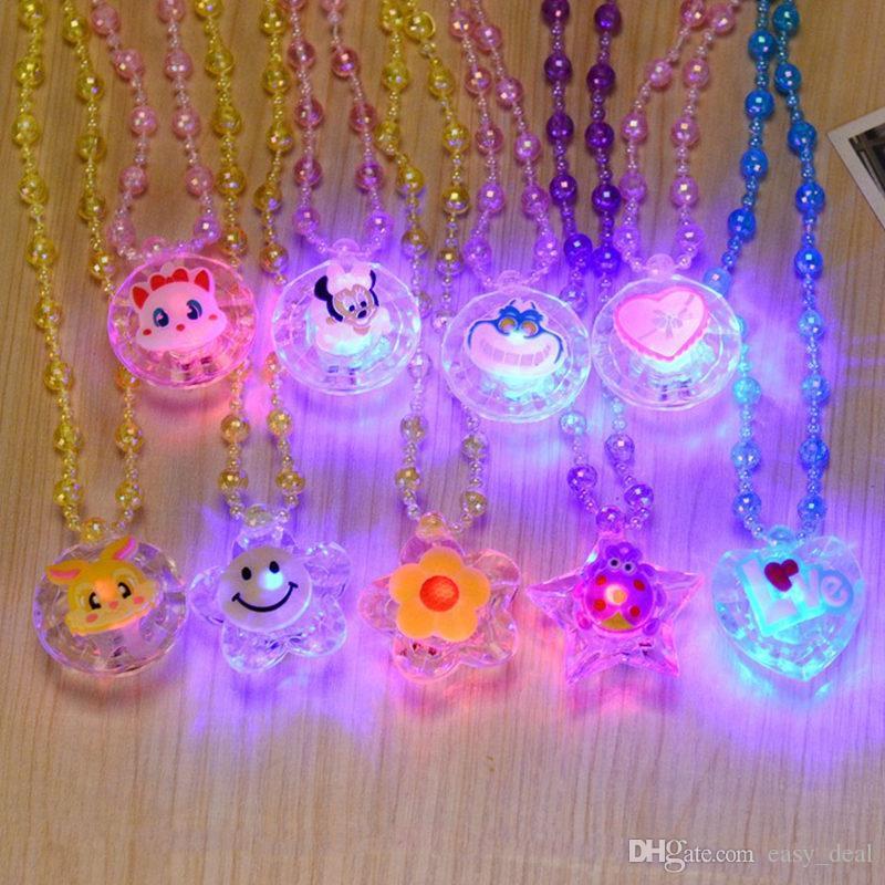 LED Collier Light Up Collier Jouets Enfants Enfants Nouveauté Clignotant Halloween Club Pub Anniversaire Halloween Fête F20173201