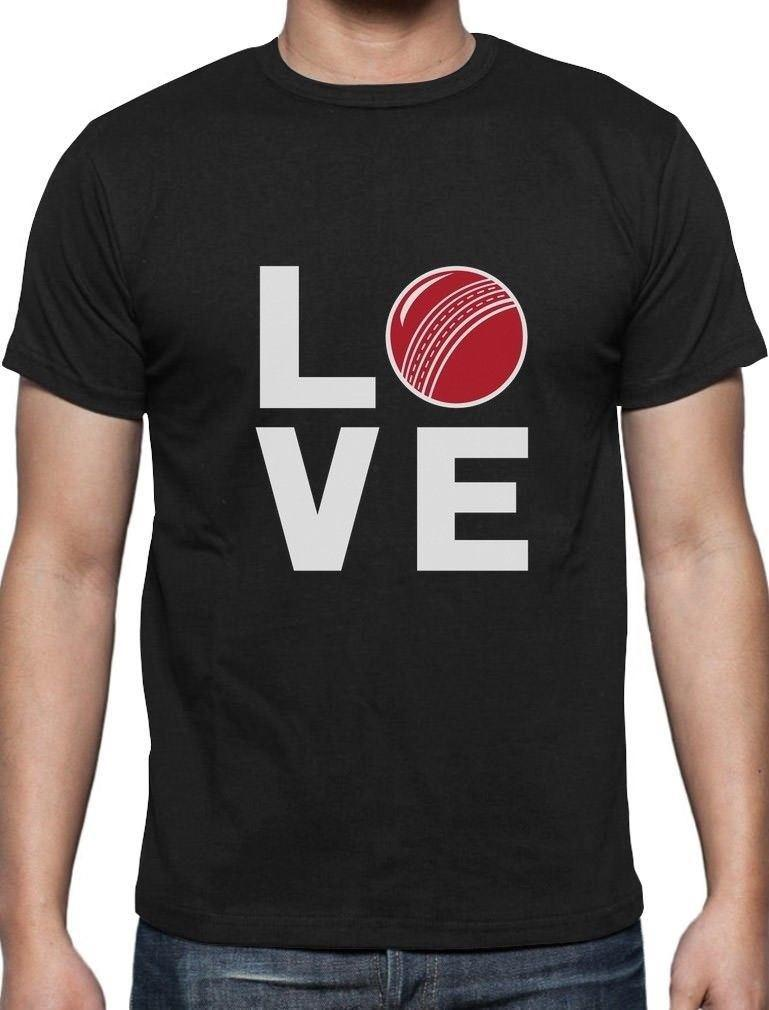 ebfc8c69a Love Cricket Perfect Gift For Cricket Players / Fans T Shirt Novelty ...