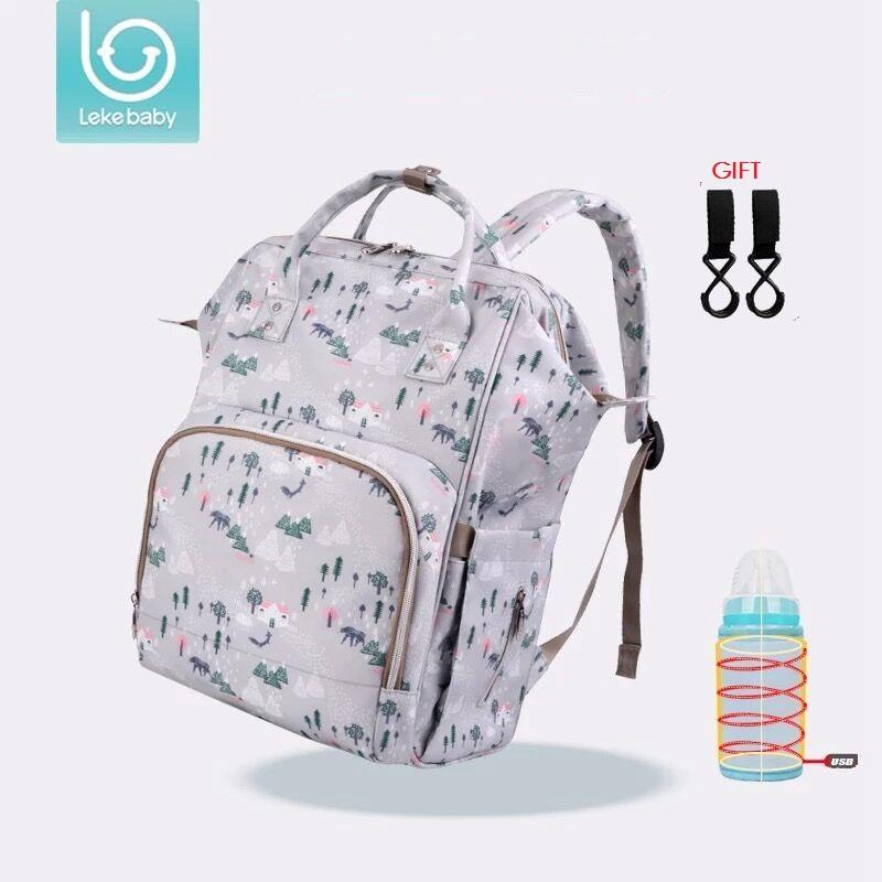 6408d637be23 2019 Lekebaby Desinger Mother Baby Travel Mummy Maternity Changing Nappy  Diaper Bag Backpack Bags Handbag For Mom Mochila Maternidade From Callshe