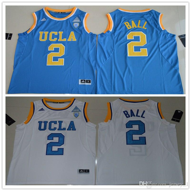 f2e28612191a best price 2017 ucla bruins lonzo ball 2 college basketball authentic  jersey white size smlxl2xl3xl lonzo