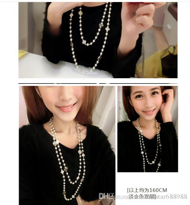 New Arrival Fashion Pear Beads Womens Pendant Necklace Free drop shipping