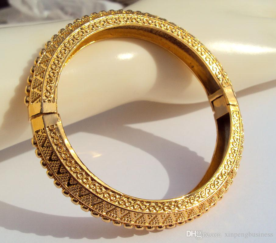 CARVE 22K 23K 24K THAI BAHT REAL YELLOW SOLID FINE GOLD GP JEWELRY BANGLE BRACELET BA09