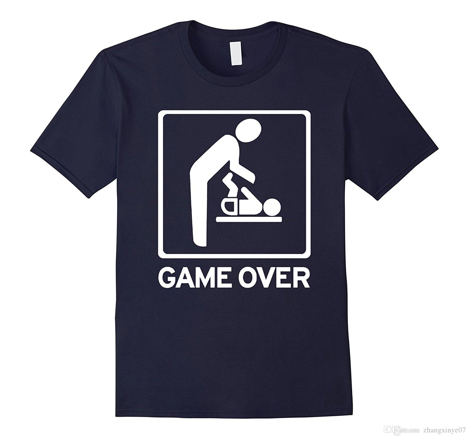 Cool New Dad New Mom Shirt Game Over T Shirt T Shirt On Shirt Online ...