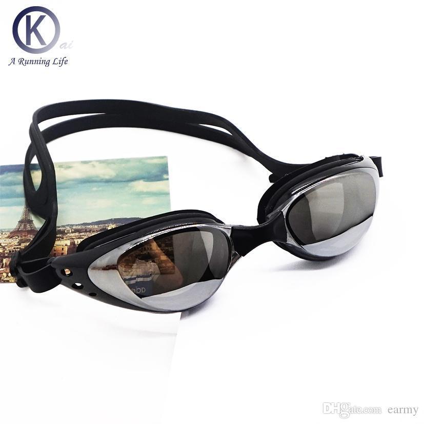 bedf720a3a59e Compre Atacado Qualidade Swim Goggles HD Anti Nevoeiro Óculos De Natação  Óculos De Natação Mulheres Homens Swim Eyewear Alta Qualidade De Earmy, ...
