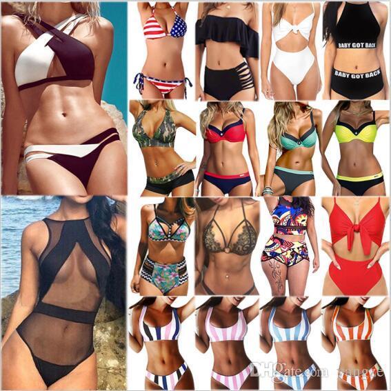 7e3c15f919a7c8 DHL Top 50 Frauen Badeanzug Bikini Set Heißer Badeanzug Hohe Qualität  Bademode Badeanzüge Sommer Kleidung XS-XL Mix bestellen 50 sätze