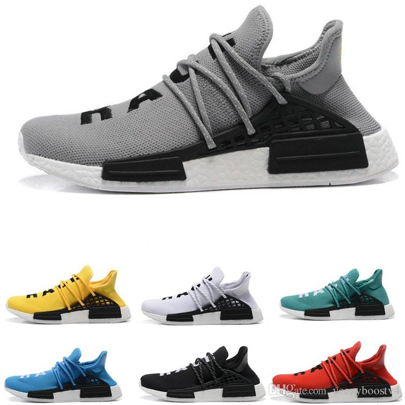 9d88aa668 2019 Cheap Wholesale HUMAN RACE Pharrell Williams X 2017 Men s   Women s  Discount Cheap Fashion Sport Shoes Free Ship With Box Luxury Shoes Designer  Shoes ...