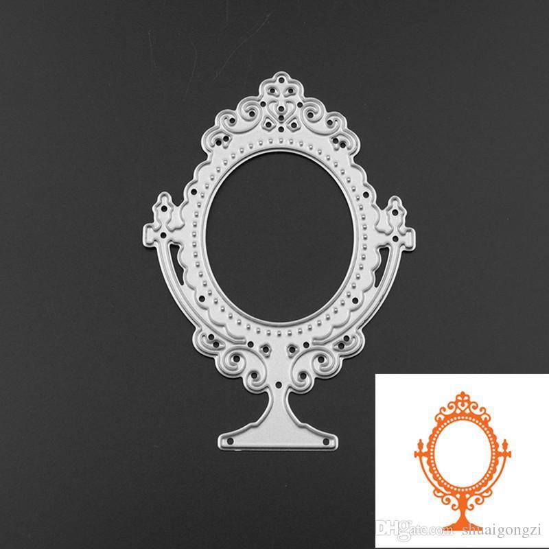 Online Cheap New Mirror Shape Metal Cutting Dies Stencil Scrapbook