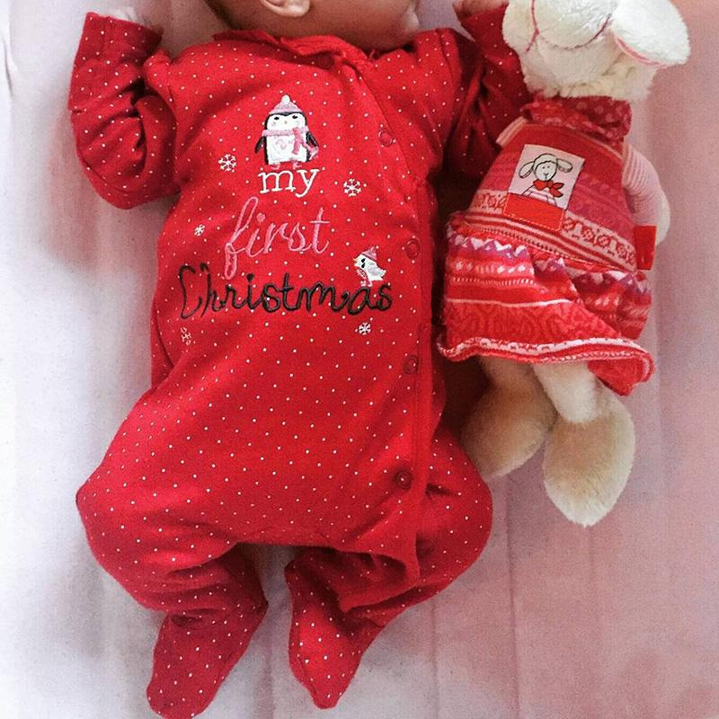 4fa11e0f9 2019 2018 New Christmas Baby Clothes Newborn Rompers Tiny Cottons ...
