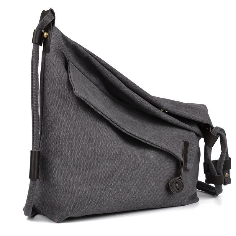76397ee35 Casual Women's Crossbody Bag Retro Canvas Simple Female Tote Messenger  Shoulder Bags For Women Men Stylish Design Unisex Sac