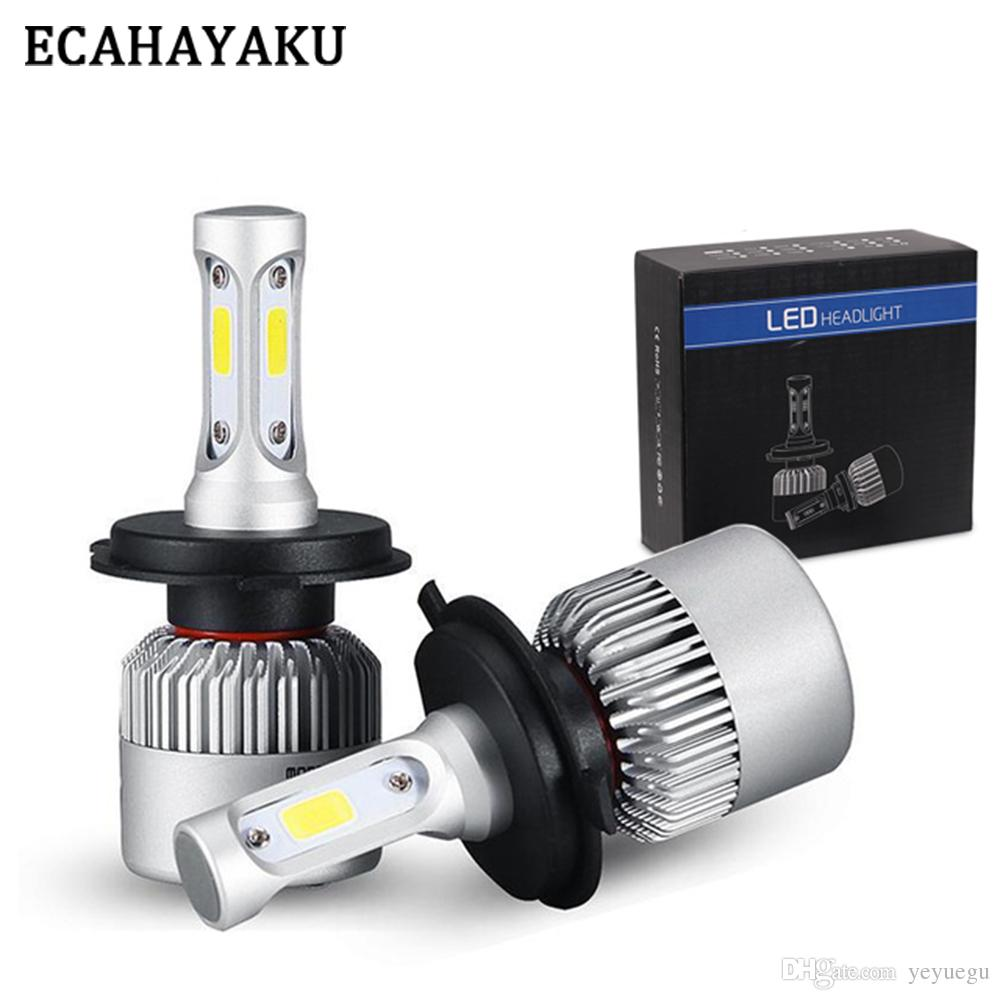 2019 72W 8000LM H7 H1 H3 H13 9007 LED Headlight Headlamp Auto