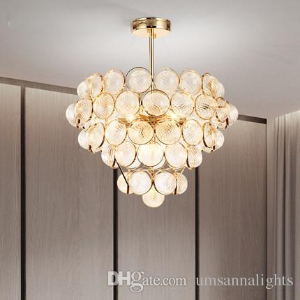 Acheter Led Moderne Lustres Luminaires Luminaire Americain Or Lustre
