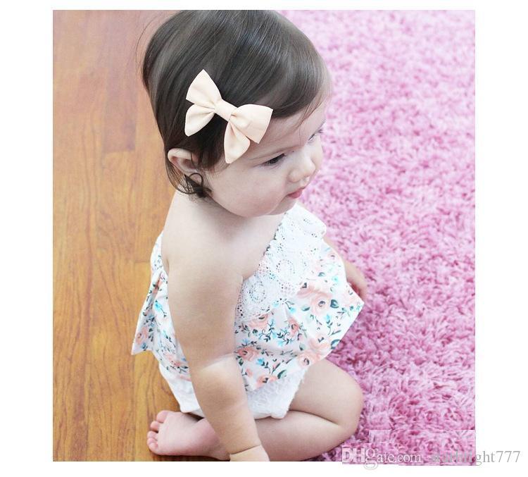 طفل T-shirt جديد الرباط الزهور الكشكشة بنات الأميرة القمم الصيف الأزهار حمالة الرضع القمم لطيف طفل أنبوب المعتوه أعلى الملابس