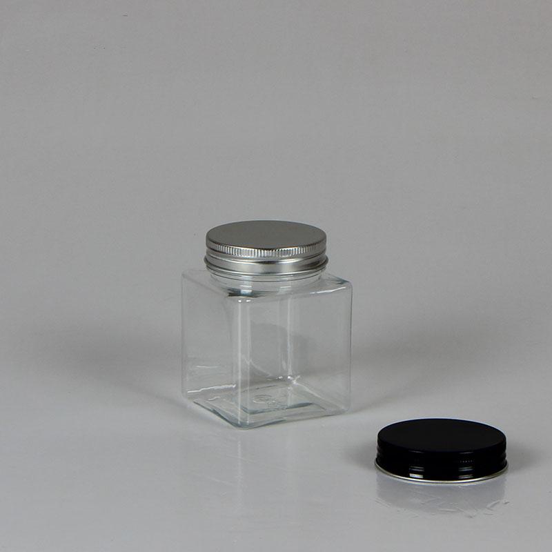 Satın Al 20 Adet 215 Ml 250 Ml Plastik Kavanoz Alüminyum Cap Kare