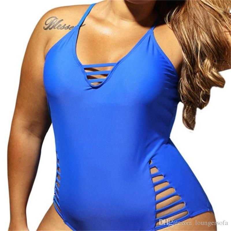 Lady Swimwear Plus Size Woman Mujer Nadar Solid Big Yard Polyester Detachable Triangle Contiguous Beach Swimsuit Femme Bikini 38 87sy V