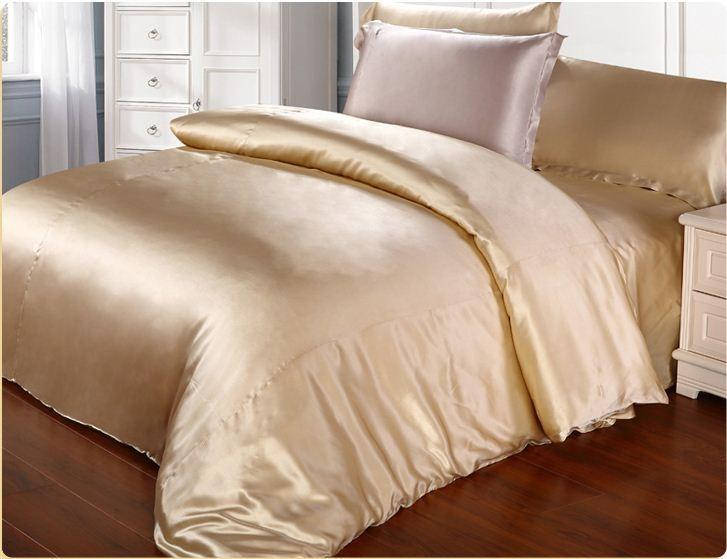 Wholesale Beige Champagne Pink Color 100% Mulberry Silk Bedding Set 19 Mm  Seam Type Set Queen King Size Customize Queen Bedding Set Black And White  ...