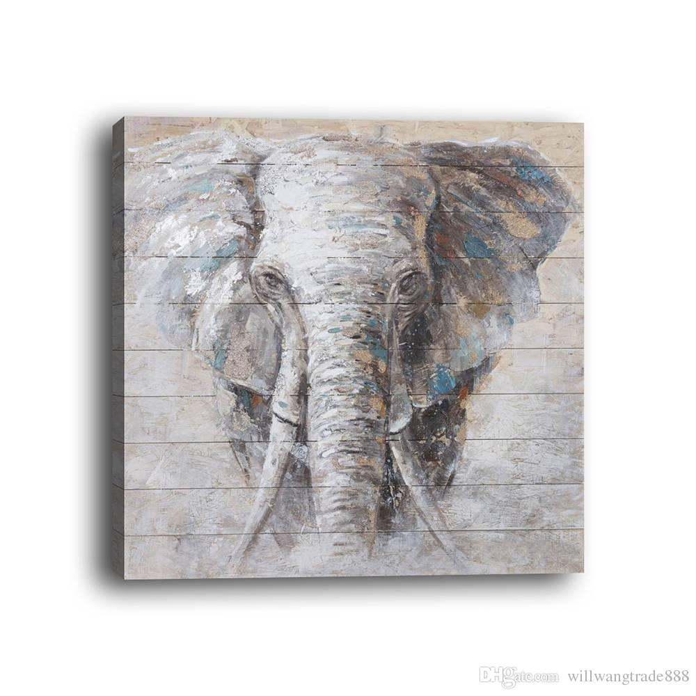 2018 Framed Modern Style Abstract Animal Elephant Wooden Framed ...