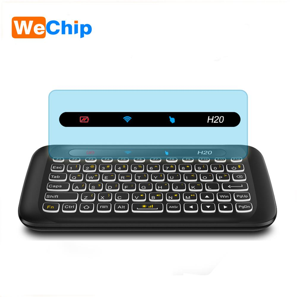 Wechip Backlit H20 Mini Wireless Keyboard 24ghz English Air Mouse