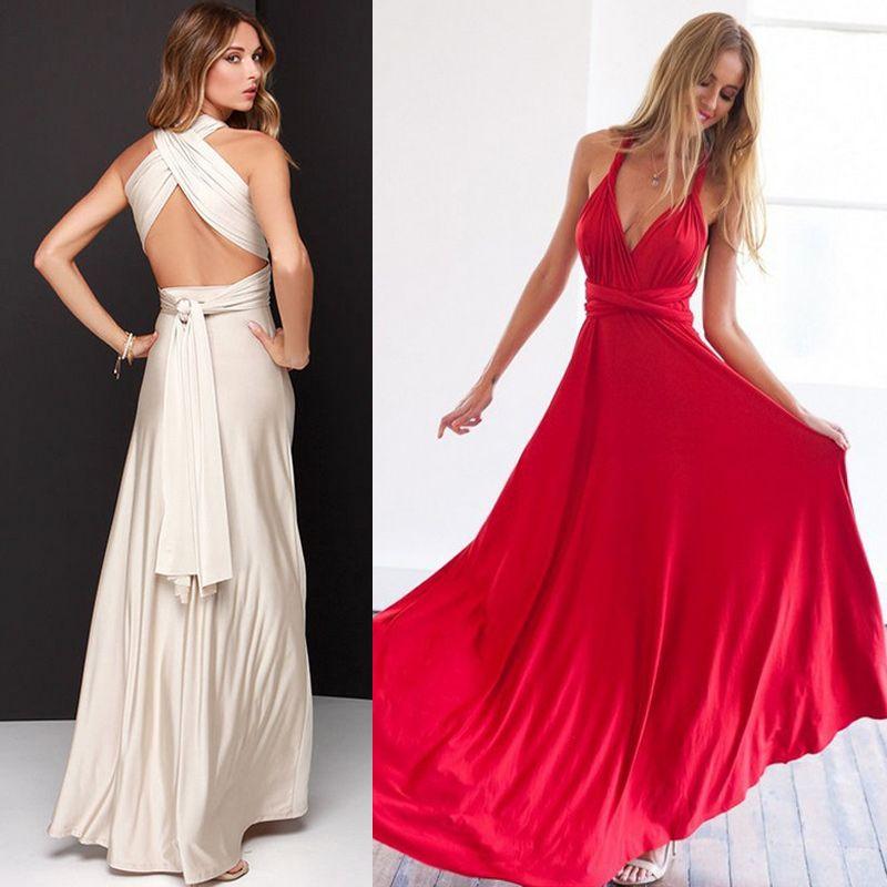76a2d76a760e5 Women s Long Maxi Dress Convertible Wrap Gown Dress Bandage Bridesmaid  Maternity Clothes for Sexy Elegant Dress