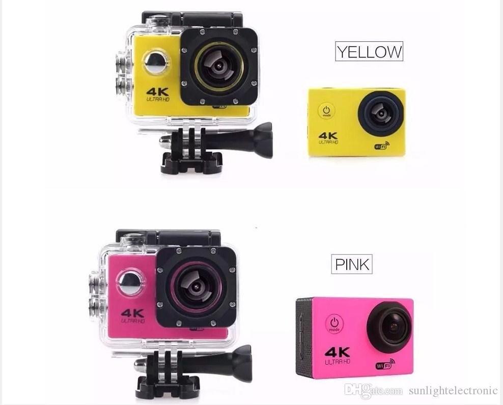 Macchina fotografica subacquea impermeabile di sport della macchina fotografica subacquea del casco 170D del casco di 2.0 Hd della macchina fotografica di azione di FHD 4K 30fps 1080P con il pacchetto al minuto