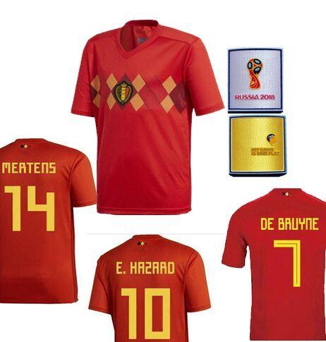 ec61e134bf9 ... jersey  with russia world cup 2018 patch thai quality soccer jerseys  belgium lukaku belgique hazard de bruyne