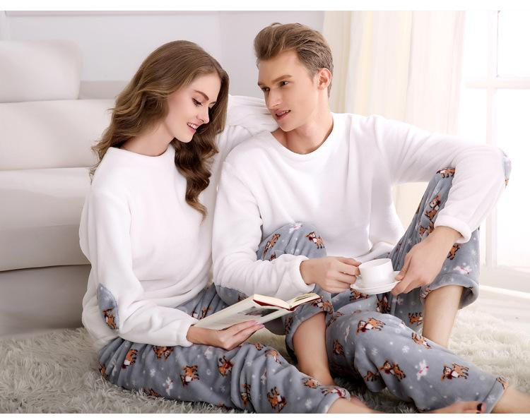 Uwback 2017 New Winter Flannel Pijimas Mens Plus Size XXXL Thick Coral Fleece Casual Elastic Waist Pyjamas Men Sleepwear CAA241