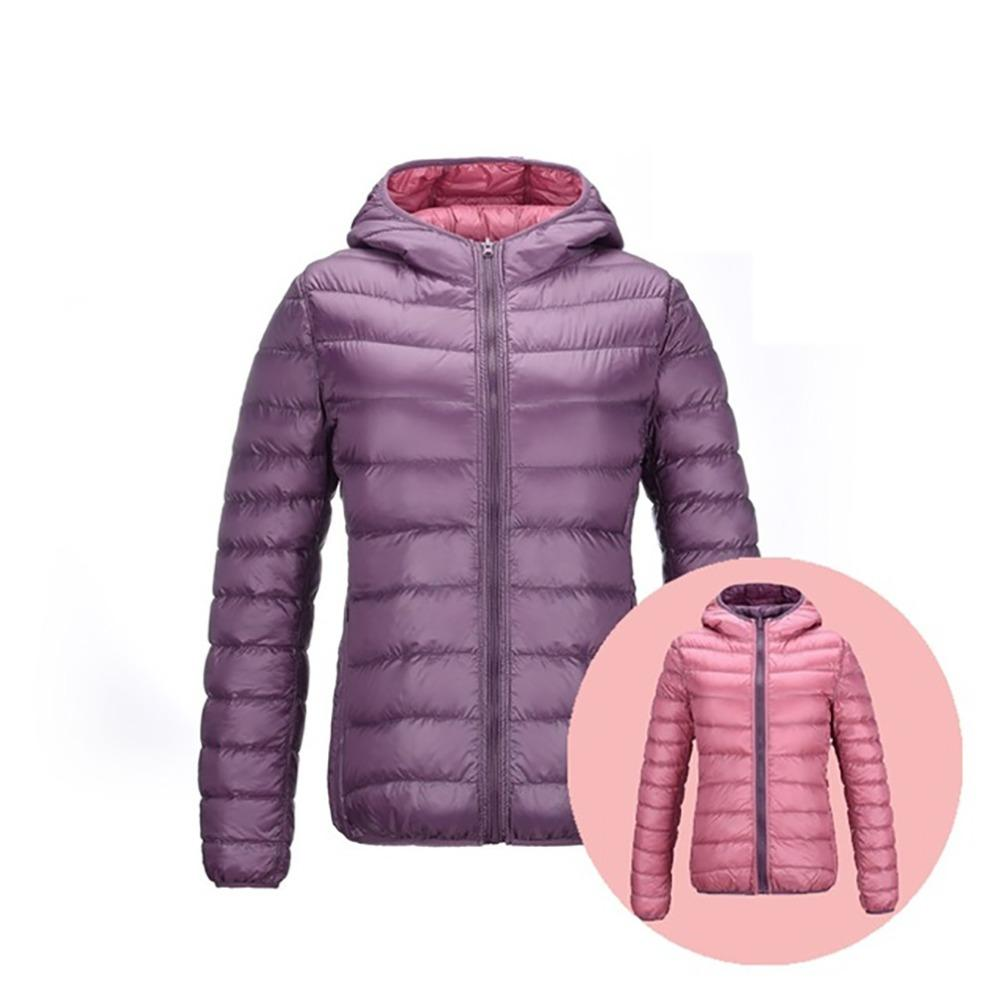 Down Jackets Women Warm Thin UltraLight 90% White Down Coats Women Feather  Jackets Double Side Lightweight Brand Large Size Coat Coat Jacket Fur  Leather ... 1c821bc7a047